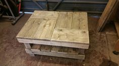 Rustic Coffee Table #7 pre oiling