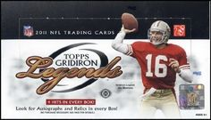 2011 Topps Gridiron Legends Football Hobby Box by Gridiron Legends. $86.95. Look for (4) Autographs or Memorablia Cards per box!! Each box will contain at least (1) Autograph! Topps Salutes The NFL's Cherished Past Heroes, Vibrant Stars, and This Year's Freshmen in an All New Release Featuring: Dual, Triple, Autograph Cards PLUS Jumbo Patch, Combo, and Stamp Relic Cards at a Rate of 4 Hits per Hobby Box! PRODUCT BREAKDOWN: Autograph Cards: At Least 1 Per Box! Autogra...