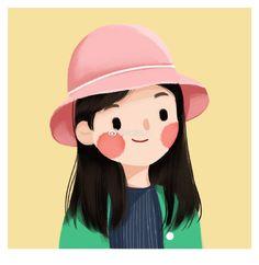 Art inspo draw beautiful 51 ideas for 2019 Kawaii Drawings, Cartoon Drawings, Cartoon Art, Cute Drawings, Cute Illustration, Character Illustration, Watercolor Illustration, Character Drawing, Character Design
