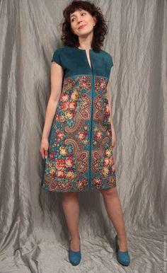 Платья ручной работы.  Заказать замша платье