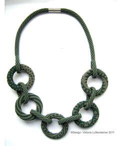 donauluft bead crochet necklace - Collar hecho de rocalla y ganchillo