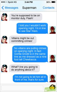 """textsfromsuperheroes: """" Texts From Superheroes Facebook 