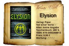 """In """"Elysion"""" erzählt Herr Elbel eine Geschichte, die trotz der fantastischen Elemente durchaus real erscheint und mich mit Spannung, Action und unerwarteten Wendungen gut unterhalten hat.  Für alle Fans spannender Zukunftsvisionen, die sich verschiedenen Handlungssträngen nicht verschließen, auf Erklärungen warten und sich auf gute Geschichten einfach einlassen können."""