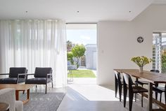 Open plan living room view of Palmerston St renovation by Vittino Ashe   NONAGON.style