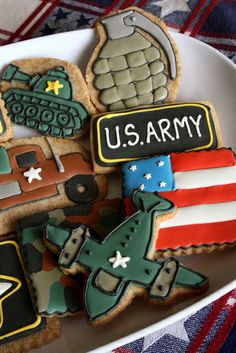 Army cookies - the office will love these :)