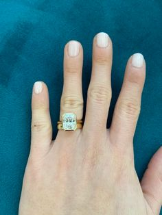 This beautiful modern engagement ring features a bezel set center gem with a sleek and delicate band for a contemporary look. Engagement Nails, Modern Engagement Rings, Diamond Engagement Rings, Wedding Band Styles, Wedding Rings, Yellow Diamond Rings, Rose Gold Jewelry, Jewelry Box, Dream Ring