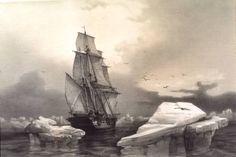 Recreación del navío San Telmo perdido en los hielos