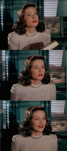 The faces of obsession in Leave Her To Heaven 1945 Gene Tierney plays the obsessive Ellen Berent. In these clips she watches Richard Harlan as if she were in a trance.