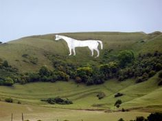 Westbury or Bratton White Horse is a hill figure on the escarpment of Salisbury Plain on the edge of Bratton Downs & lying just below an Iron Age hill fort, it is the oldest of several white horses carved in Wiltshire, SW England
