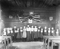 One-room school celebrating George Washington in Eastpoint, Florida  1906?