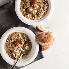 Barley Risotto with Wild Mushrooms | MyRecipes.com