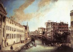 Canaletto Paintings-Rio dei Mendicanti, 1723-1724