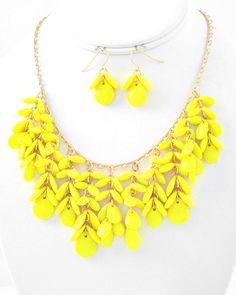 Statement Necklace in Sunshine Yellow  Free by JoyfulShores, $21.00