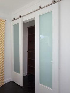 From Flipping the Block - Want this door between master bedroom to bath. Alternative to pocket door.