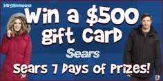 Win a Sears gift card from BargainMoose! Final Days, Giveaways, Canada, Gift, Beauty, The 100, Finals, Beauty Illustration, Presents