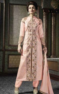 Glittering MistyRose Designer Salwar Suit