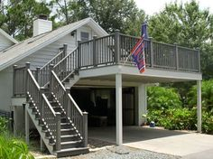 2nd story deck with stairs, design, images | Second story deck with composite decking and railing system