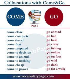 Collocations with COME & GO #learnenglish