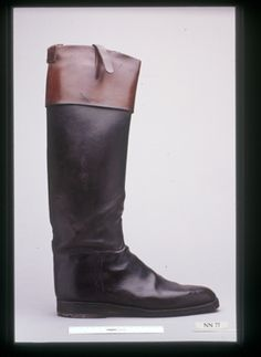 Top boots, riding  Date c 1880-1900 - English