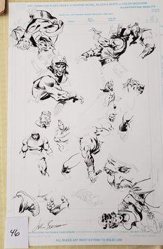 STOLEN ART Comic Art Comic Books Art, Comic Art, Killer Croc, John Buscema, Art Archive, Art Store, Comic Covers, Art Auction