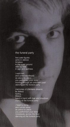 The Cure's Song Funeral Party Lyrics.