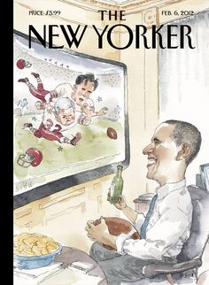 "The New Yorker - Monday, February 6, 2012 - Issue # 4438 - Vol. 87 - N° 47 - Cover ""The Big Game"" by Barry Blitt"