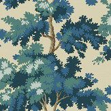 Raphael by Sandberg - Dark Blue - Wallpaper : Wallpaper Direct Dark Blue Wallpaper, Bold Wallpaper, Tree Wallpaper, Blue Wallpapers, Wallpaper Roll, Botanical Wallpaper, Beautiful Wallpaper, Bathroom Wallpaper, Fabric Wallpaper