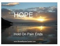 Hope: hold on pain ends