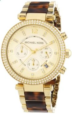 Michael Kors Women's MK5688 Parker Analog Display Analog Quartz Brown Watch. Go to the website to read more description.