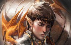 I can see Eragon as this elf dragon, elf Elf Characters, Fantasy Characters, Fantasy World, Fantasy Art, Sakimichan Deviantart, Sakimichan Art, Elfen Fantasy, Male Elf, Inheritance Cycle
