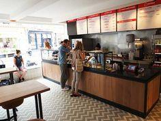 Burger Menu, Burger Restaurant, Fast Food Restaurant, Restaurant Design, Chicken Bar, Chicken Shop, Restaurant Counter, Kentucky, Food Counter