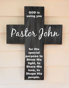 Items similar to Personalized wood wall cross / Last Name Personalized Family Pine Wood Cross with Dove and Quote Poem, LARGE housewarming gift on Etsy Pastor Appreciation Poems, Gifts For Pastors, Pastors Wife, Pastor Anniversary, Church Activities, Wood Crosses, Church Crafts, Diy Gifts, Handmade Gifts