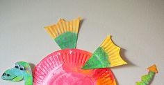 Learn with Play at Home: Simple Paper Plate Dragon Craft Paper Plate Crafts, Craft Stick Crafts, Preschool Crafts, Paper Plates, New Year's Crafts, Crafts For Boys, Art For Kids, Arts And Crafts, Googly Eye Crafts