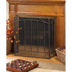 With Love Home Decor - Classic Fire Place Screen, $52.99 (http://www.withlovehomedecor.com/products/classic-fire-place-screen.html)
