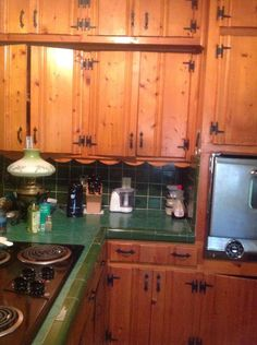 A knotty pine kitchen - respectfully retained and revived | Knotty ...