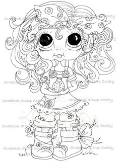 INSTANT DOWNLOAD Digital Digi Stamps Big Eye Big Head Dolls Messy Bessy My Besties Digi Img788 By Sherri Baldy