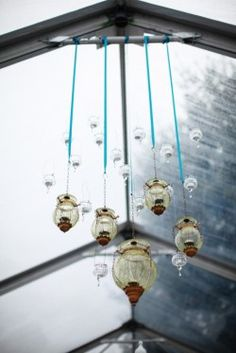 Statement ribbon color with hanging lantern