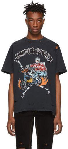 44f4457ede39 Warren Lotas SSENSE Exclusive Black Unforgiven Destroyed T-Shirt