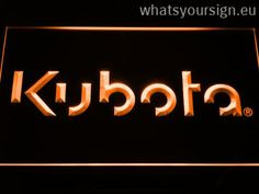 Kubota - LED neon sign light display made of the highest quality clear plastic and briliant colorful LED illumination. The neon sign displays exactly the same from all angles thanks to the carving with the latest 3D laser engraving process. This LED neon sign is a great gift idea! The neon is provided with a metal chain for displaying. Available in 3 sizes in following colours: Yellow, Purple, White, Green, Orange, Red and Blue!