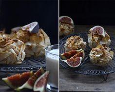 Knasende muffins med mandler og marcipan