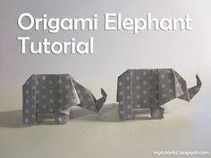 Origami olifant