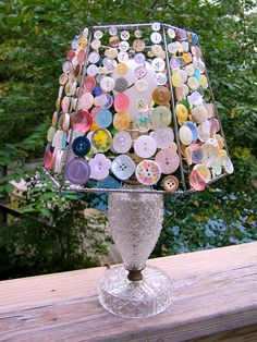3 Peaceful Cool Tips: Rustic Lamp Shades Chicken Wire wall lamp shades sconces.Mini Lamp Shades Chandelier lamp shades diy no sew. Shabby Chic Lamp Shades, Rustic Lamp Shades, Lampshade Chandelier, Lampshades, Diy Lampshade, Button Art, Button Crafts, Button Lampshade, Cute Diy Projects