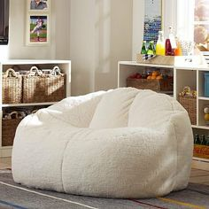 Ivory Sherpa Cloud Couch from PBteen. Shop more products from PBteen on Wanelo. Kids Chairs, Cozy Chair, Zen Room, Bean Bag Chair, Decor, Furniture, Couch And Loveseat, Lounge Seating, Room