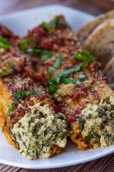 Ricotta and Spinach Vegan Cannelloni