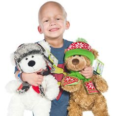 "Kay Jewelers offers plush ""Luke"" and ""Logan"" bears this holiday season with 100 percent of all profits (no less than 7 dollars) from each purchase to benefit St. Jude. Available only in stores while supplies last."