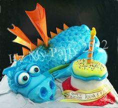 Dimensional Birthday Dragon - by It'z My Party Cakery @ CakesDecor.com - cake decorating website