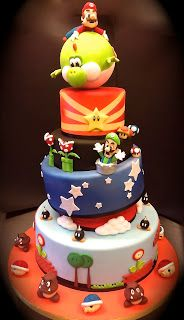 Mario cake. wish I was talented enough to make this