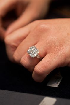 Love Love Love this ring. Go big or go home with Harry Winston!