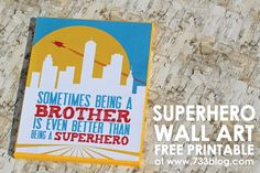Superhero Canvas Wall Art {Free Printables} #superbuddies