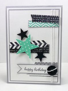 Banner, washi tape, stars